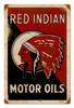 Vintage Red Indian Oil 12 x 18 inches Metal Sign