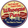 Retro Whoopie Pies Metal Sign 14 x 14  Inches