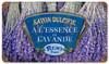 Retro Lavender Metal Sign  14 x 8 Inches