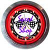 Retro Billiards Spaceballs Neon Clock 15 X 15 Inches