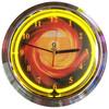 Retro 9 Ball Fire Neon Clock 15 X 15 Inches