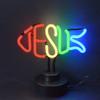 Retro Jesus Fish Neon Sculpture  13 W  X 6 H X 6 D