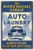 Retro Auto Laundry Metal Sign 16 x 24 Inches