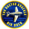 Retro Air Dock Round Metal Sign 28 x 28 Inches