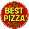Retro Best Pizza Round Metal Sign 14 x 14 Inches
