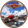 Retro Air Races Round Metal Sign 28 x 28 Inches