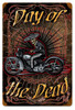 Retro Day Of The Dead Metal Sign 18 x 12 Inches