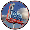 Mels Daytime Round Metal Sign 28 x 28 Inches