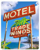 Trade Winds Motel Metal Sign 12 x 18 Inches