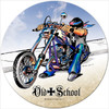 Vintage Old School Round Metal Sign 14 x 14 Inches
