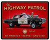 Highway Patrol Metal Sign 15 x 12 Inches