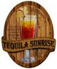 Tequila Sunrise Recipe Custom Shape Metal  24 x 20 Inches