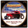 Bonneville Custom Shape Metal Sign 24 x 24 Inches
