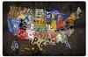 Retro License Plate USA Board Metal Sign 24 x 16 Inches