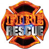 Fire Rescue Metal Sign 16 x 16 Inches