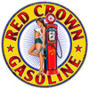 Red Crown Gasoline Pinup Girl Metal Sign 30 x 30 Inches