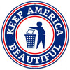 Retro Keep America Round Metal Sign 14 x 14 Inches