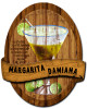 3-D Layered Margarita Damiana Metal Sign 13 x 16 Inches