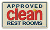 Vintage Approved Clean Metal Sign 8 x 14 Inches