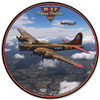 B-17 Flying Fortress Metal Sign 14 x 14 Inches