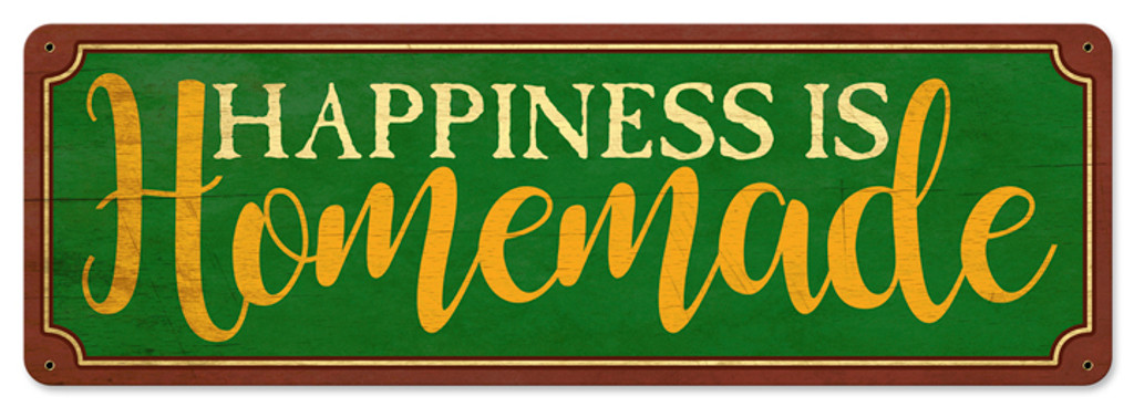 image about Happiness is Homemade identify Contentment Is Handmade Metallic Indication 24 x 8 Inches