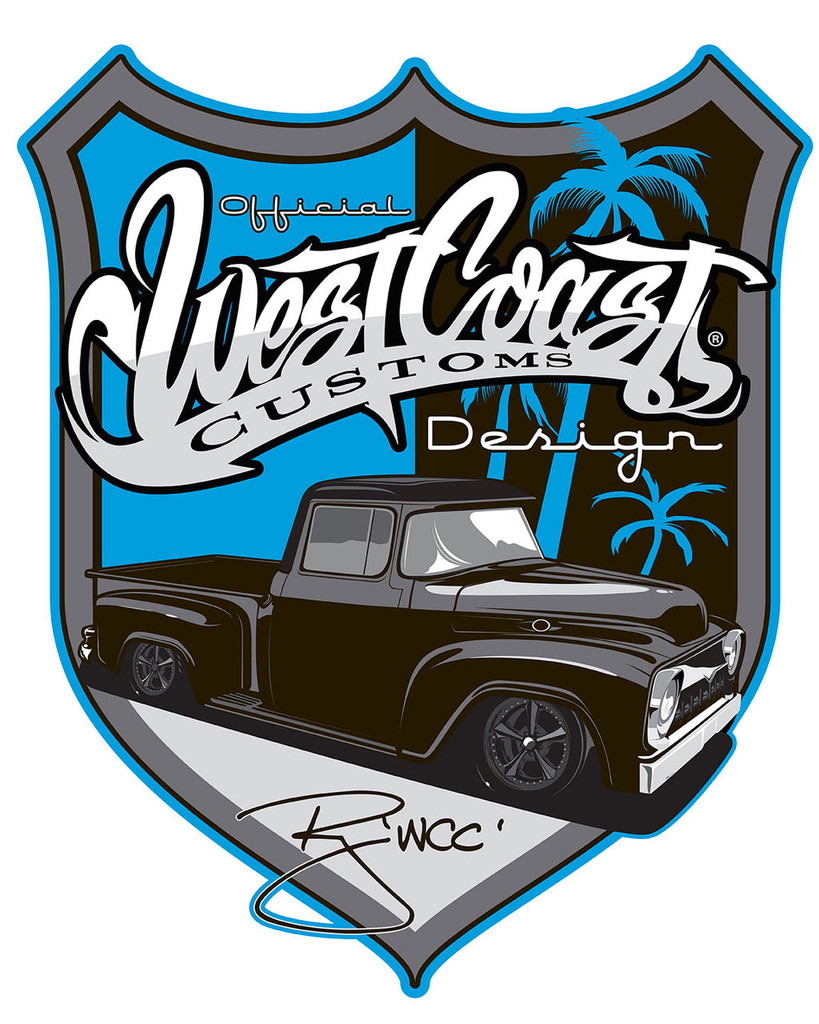 West Coast Street Rods Metal Sign 20 x 16 Inches