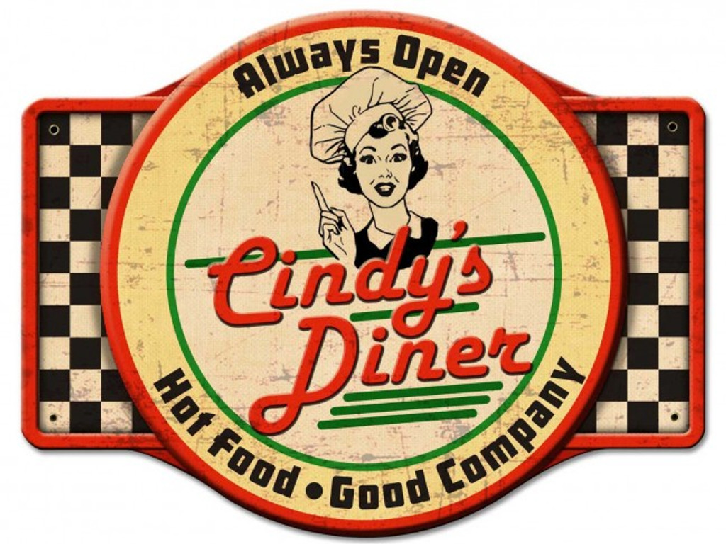Diner Metal Sign - Personalized 24 x 18 Inches