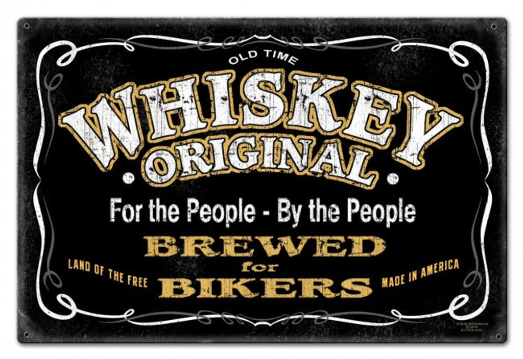 Whiskey Original Metal Sign 30 x 20 Inches