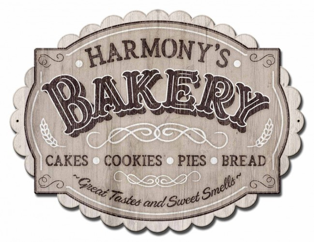 Bakery Metal Sign - Personalized 21 x 16 Inches