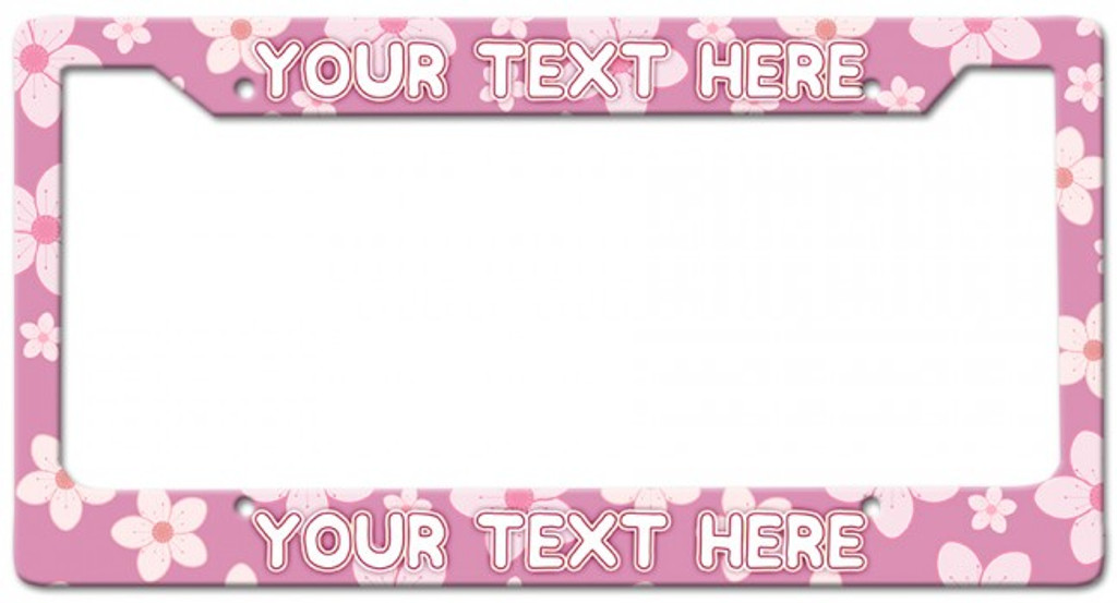 Cherry Blossoms Personalized License Frame 12 x 6 Inches