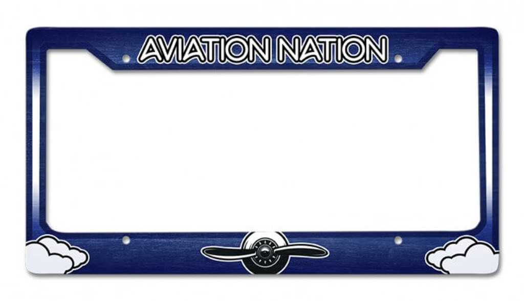 Aviation Nation License Plate Frame 12 x 6 Inches