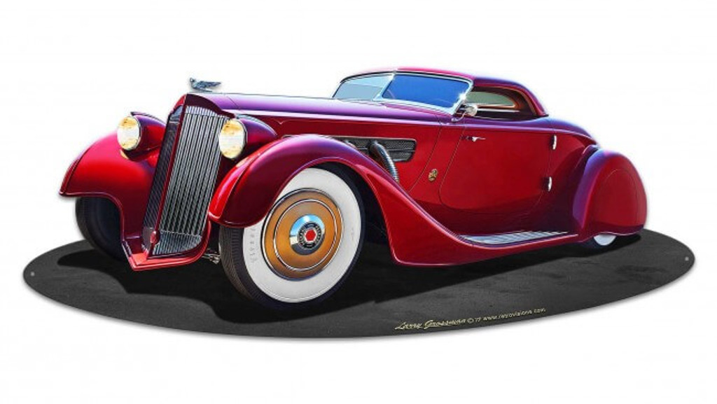 1940 Packard Kustom Metal Sign 30 x 12 Inches