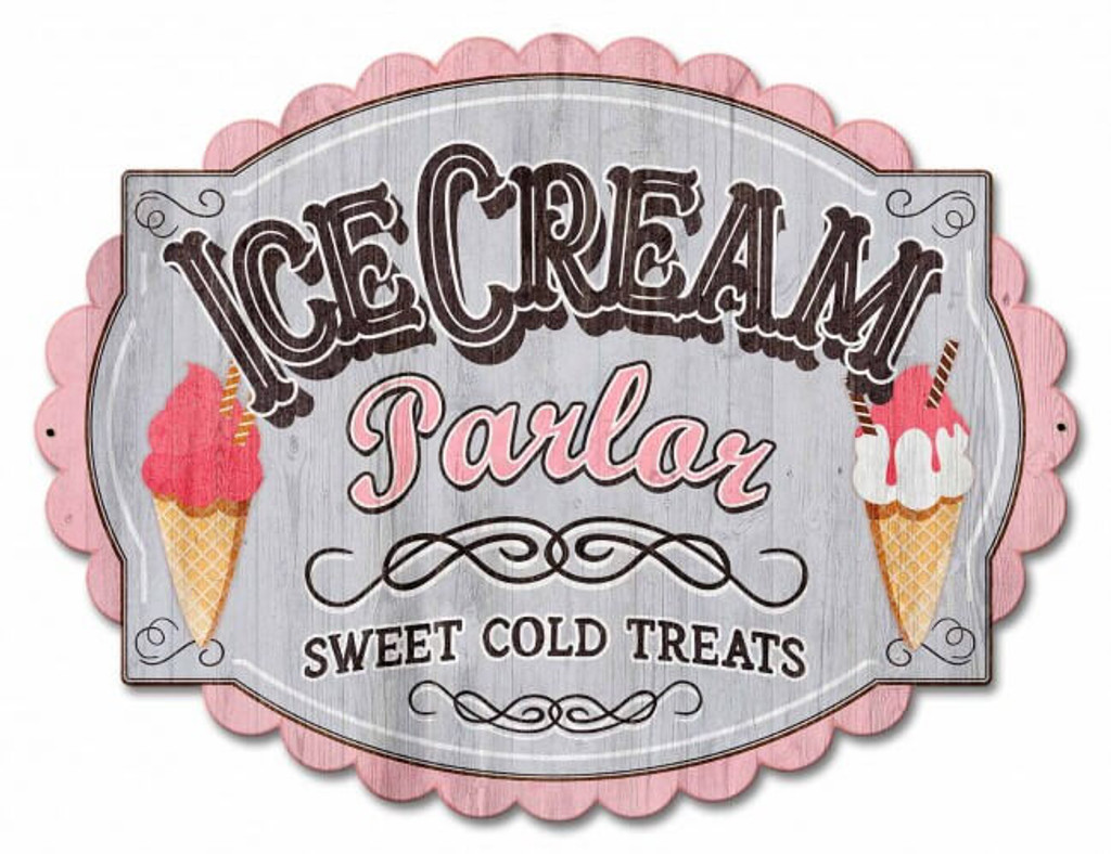 Ice Cream Parlor Metal Sign 21 x 16 Inches