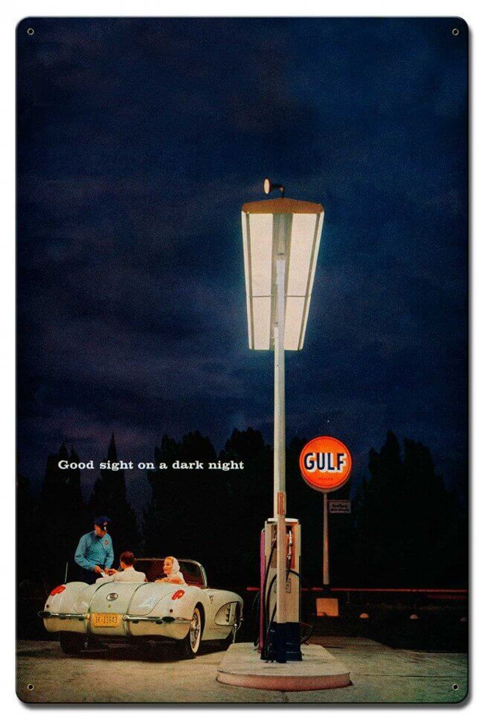 Gulf Gas Station Metal Sign 16 x 24 Inches