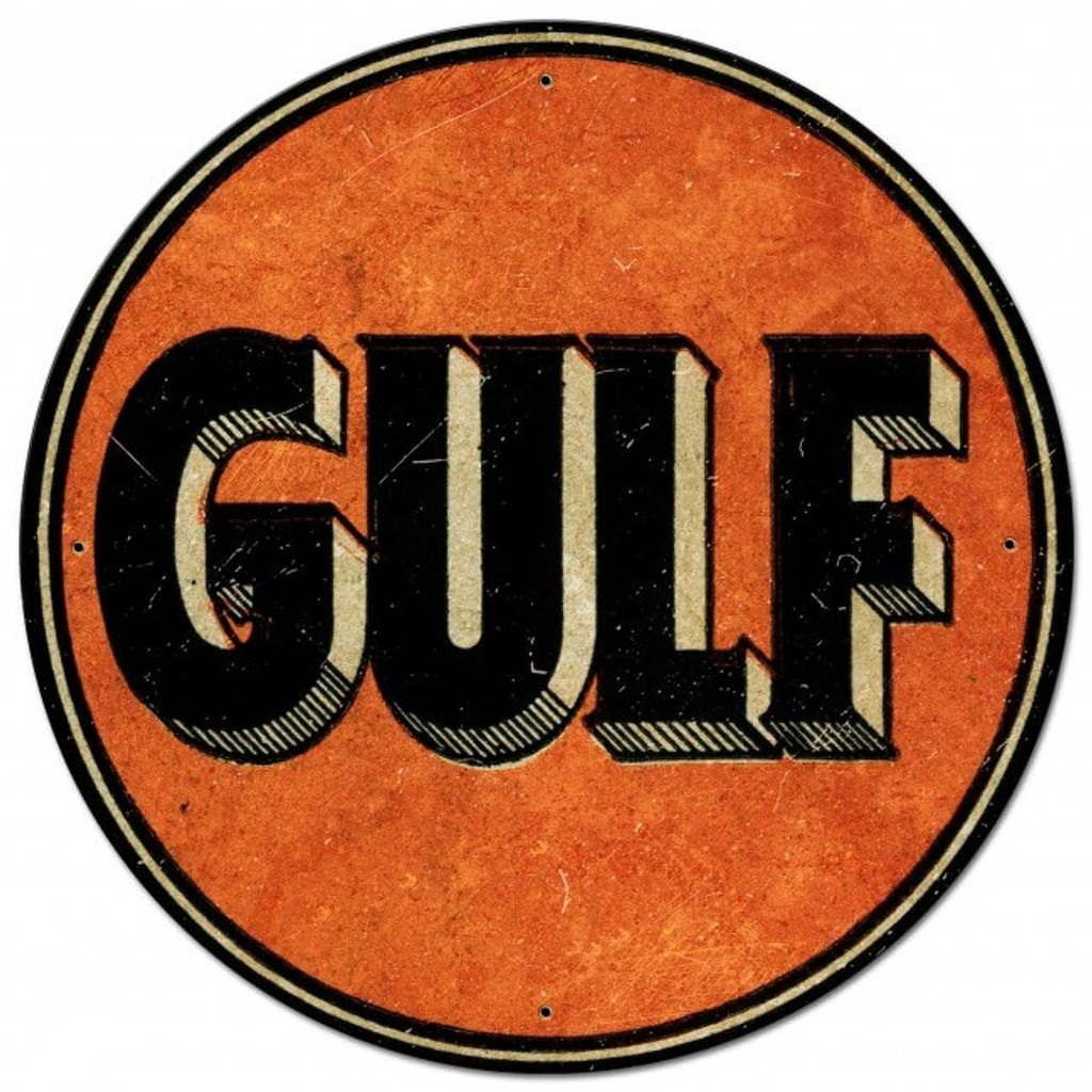 GULF OIL Metal Sign 28 x 28 inches
