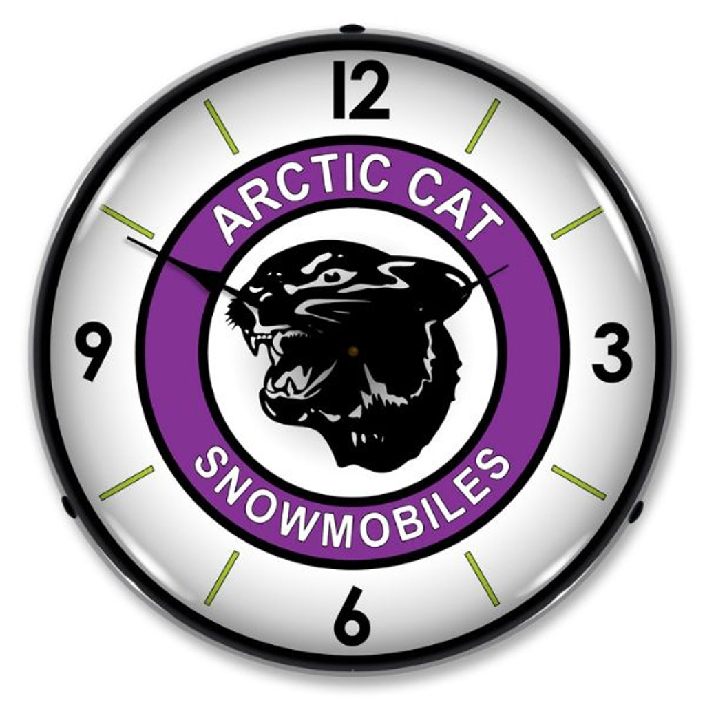 Artic Cat Lighted Wall Clock