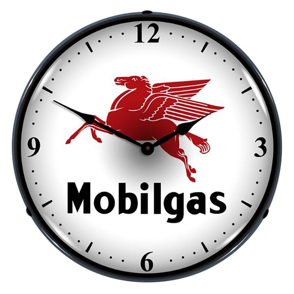 Mobilgas Lighted Wall Clock