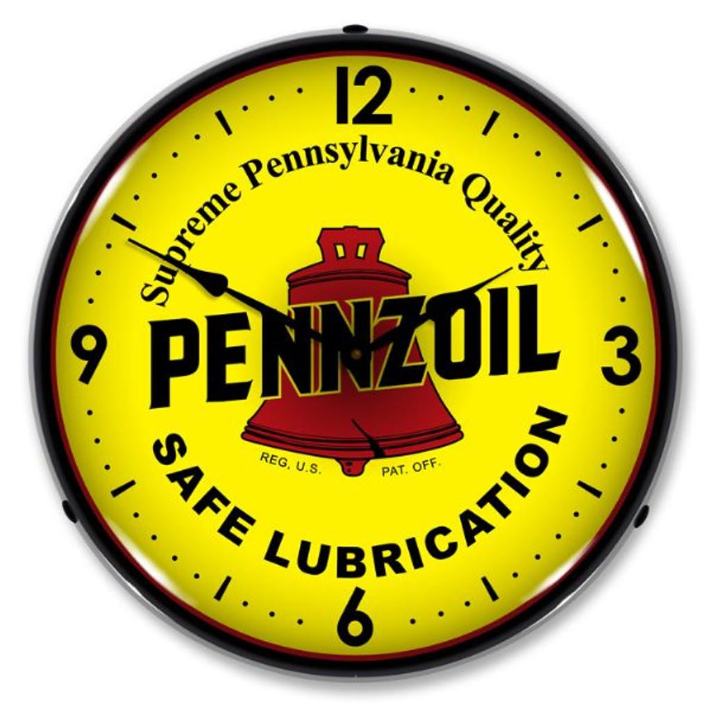 Pennzoil Lighted Wall Clock
