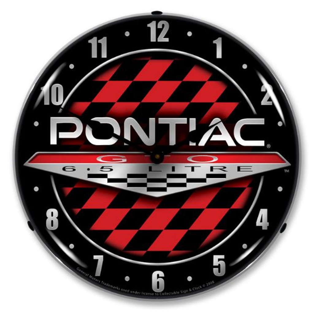 Pontiac GTO Lighted Wall Clock