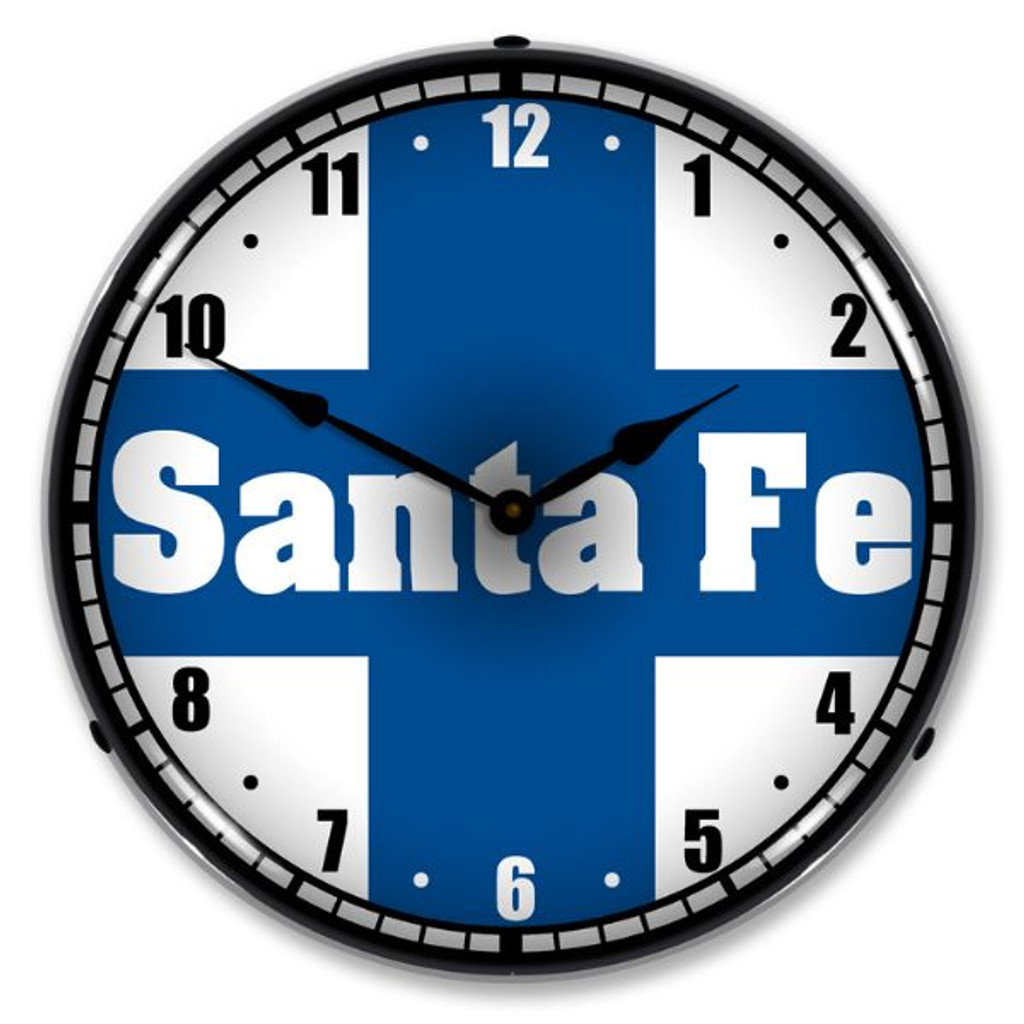 Santa Fe Railroad Lighted Wall Clock