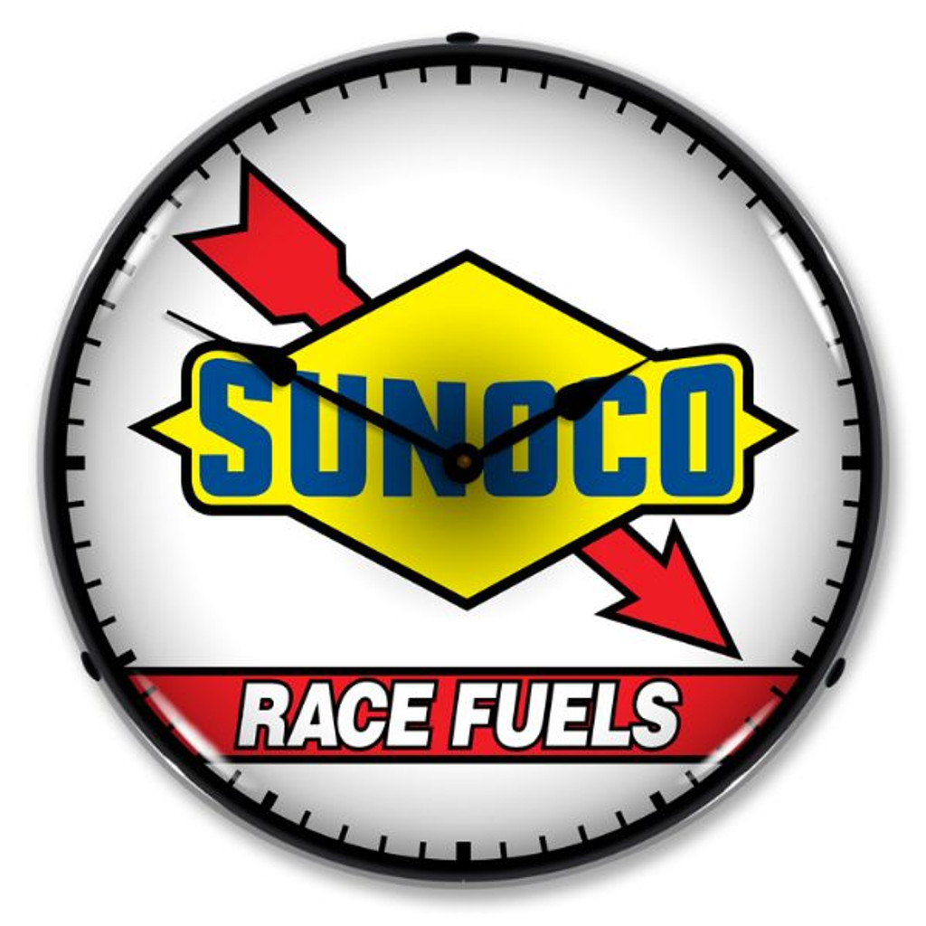 Sunoco Race Fuel LED Lighted Wall Clock 14 x 14 Inches
