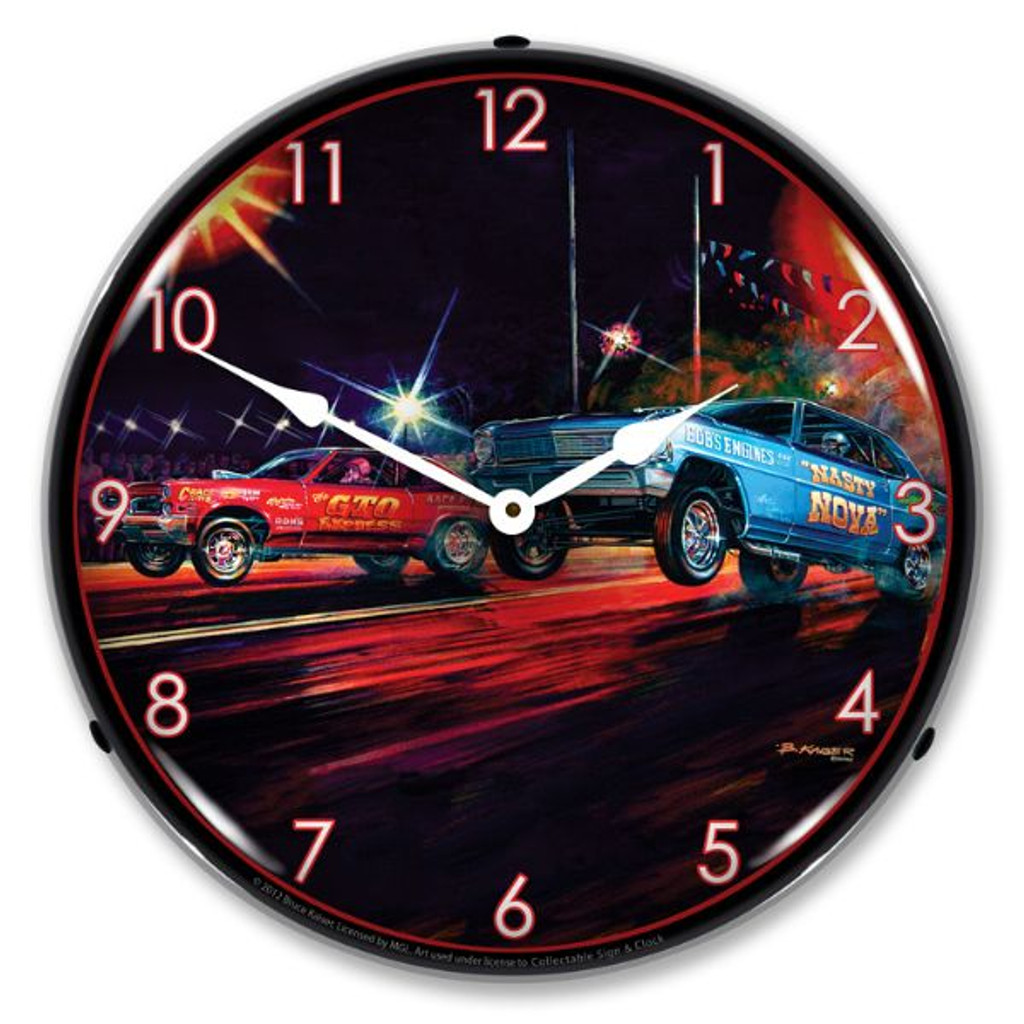 Lift Off Lighted Wall Clock
