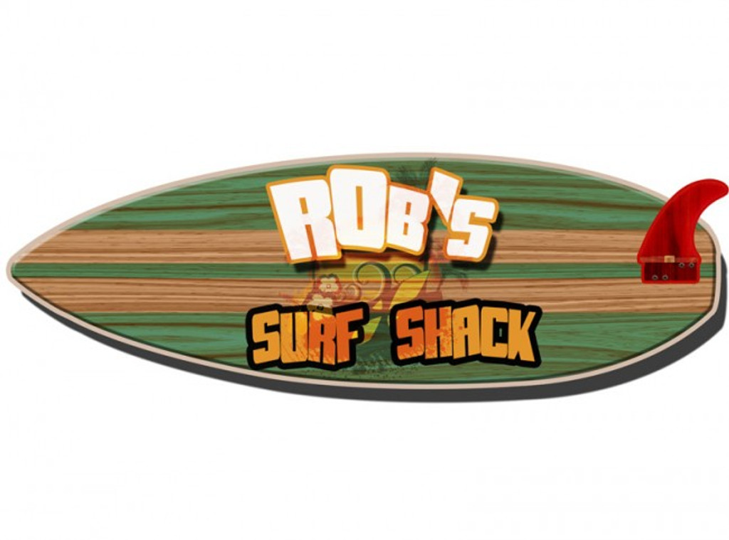 Surfboard 3d Metal Sign Personalized 26 X 8 Inches