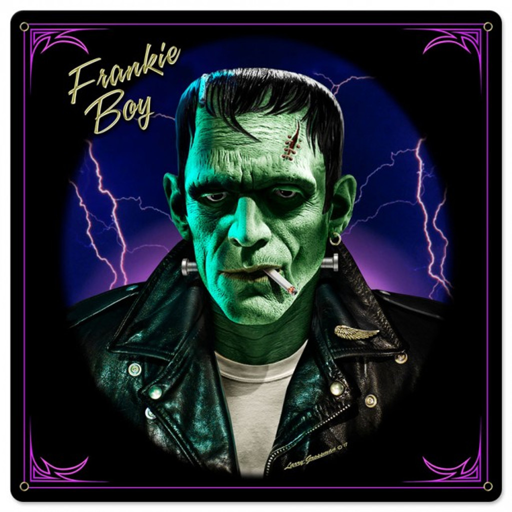 Frankie Boy Metal Sign 24 x 24 Inches