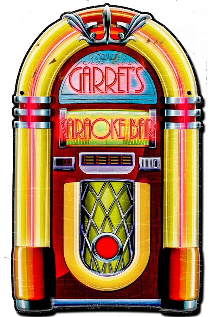 Jukebox Metal Sign - Personalized 22 x 16 Inches
