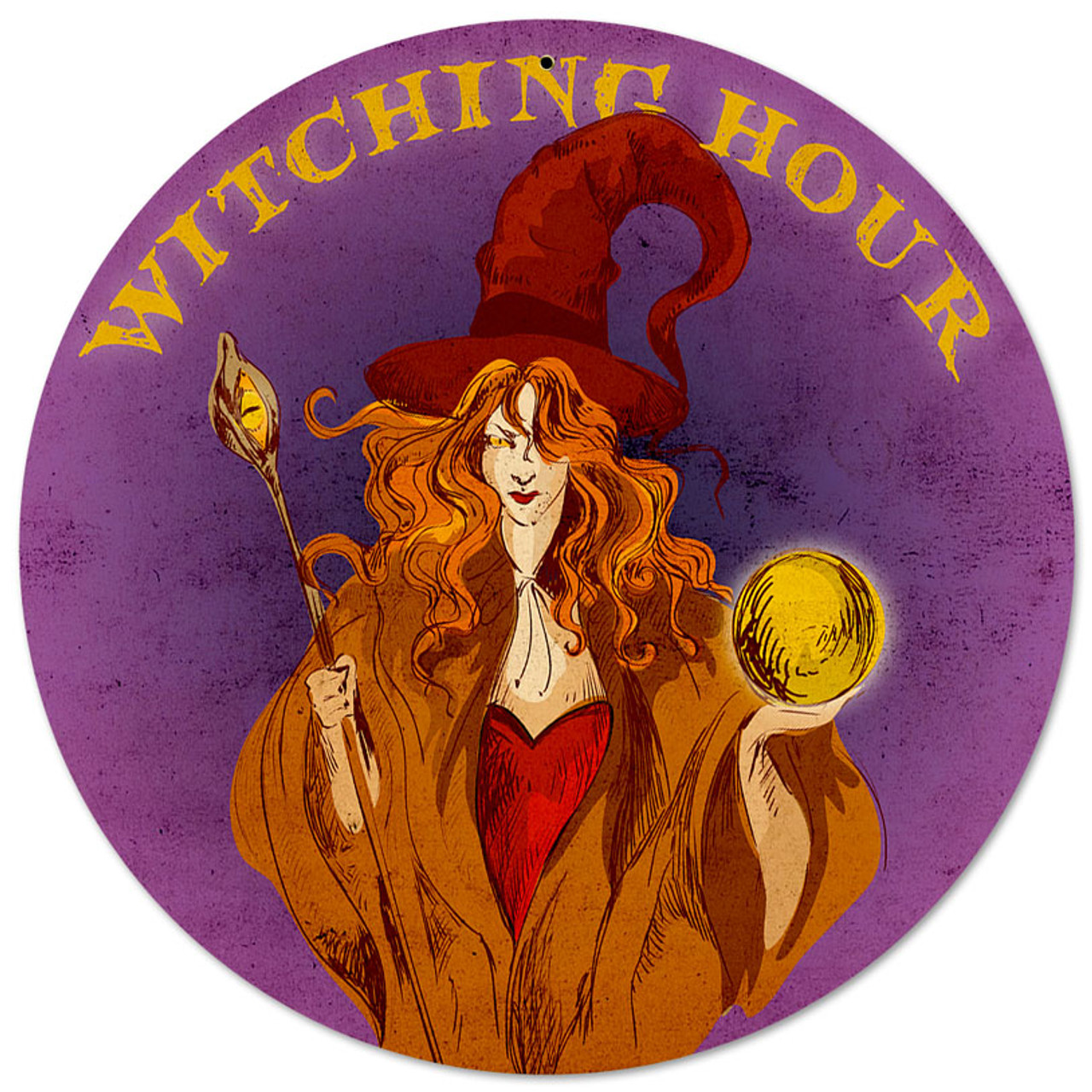 Witching Hour Metal Sign 14 x 14 Inches