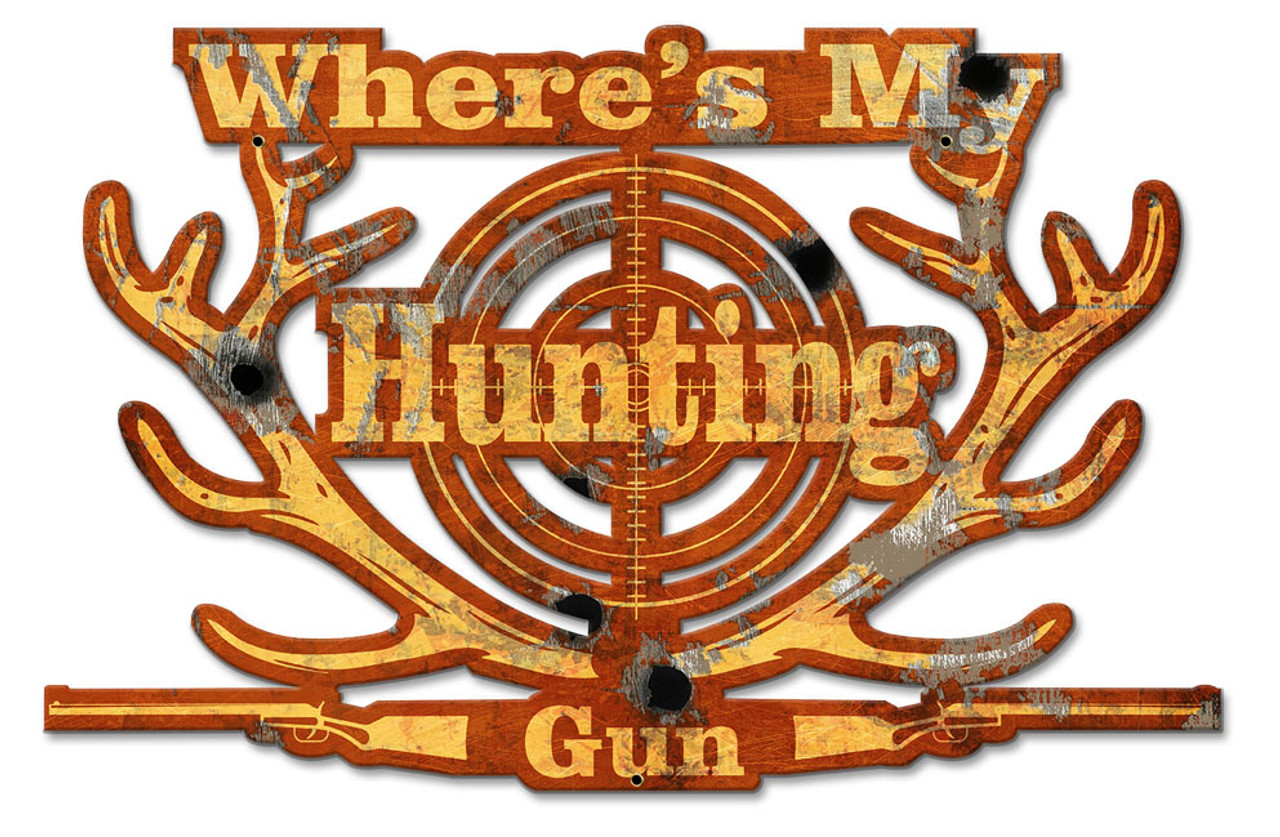 My Lucky Hunting Shirt Metal Sign 20 x 13 Inches