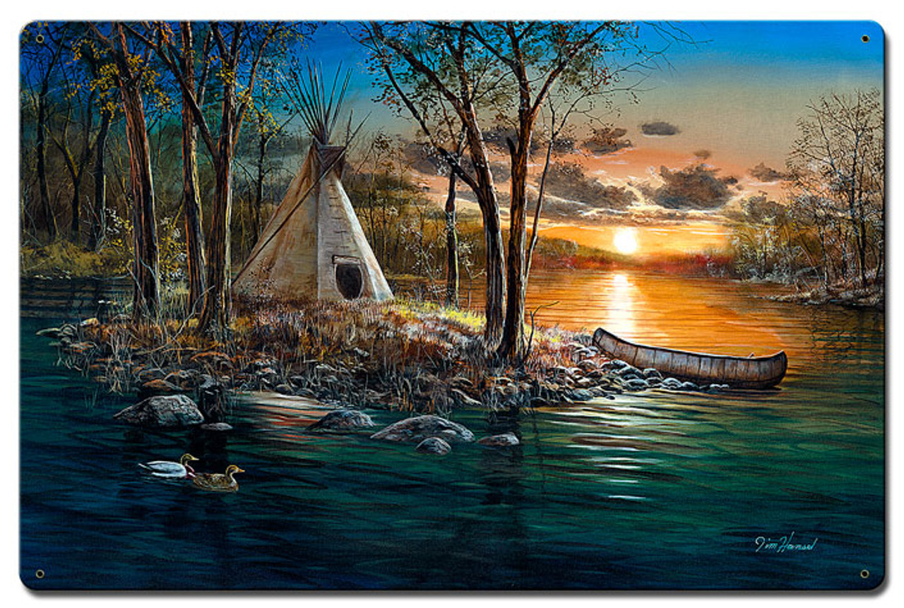 Native Lands Metal Sign 24 x 16 Inches