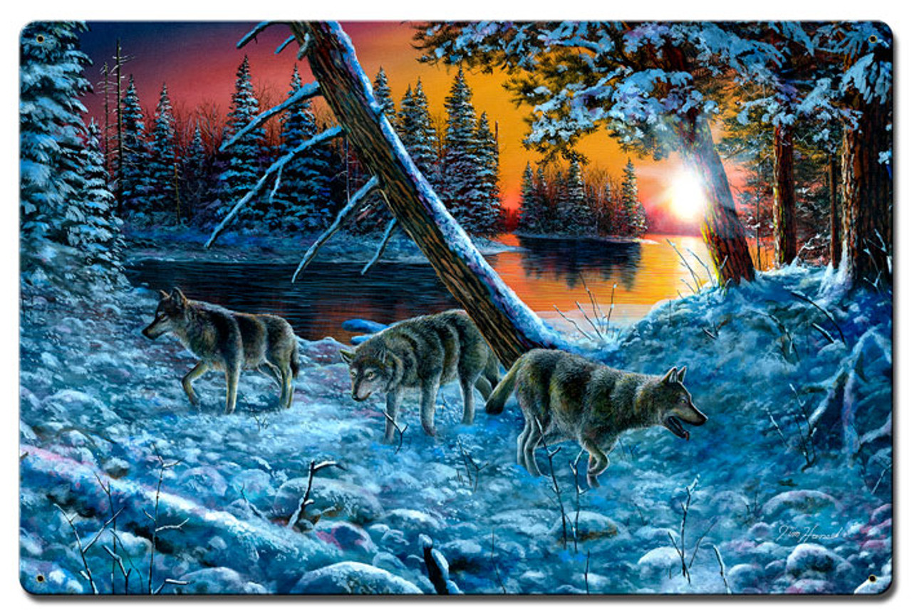 On The Prowl Metal Sign 15 x 24 Inches
