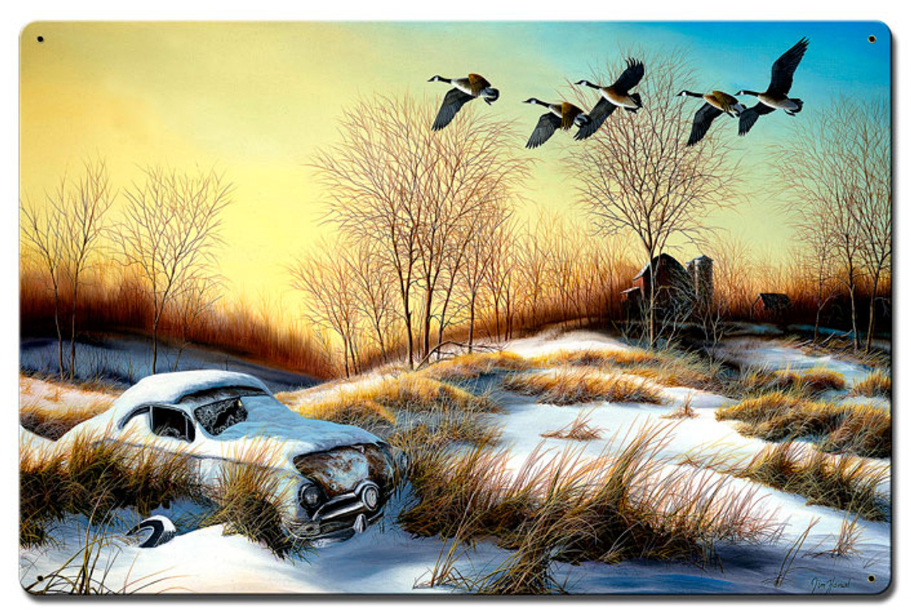 Winter Retreat 2 Metal Sign 16 x 24 Inches